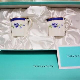 ティファニー(Tiffany & Co.)の未使用保管品『TIFFANY&Co.』フラワーフローラル デミタスペアカップ(食器)