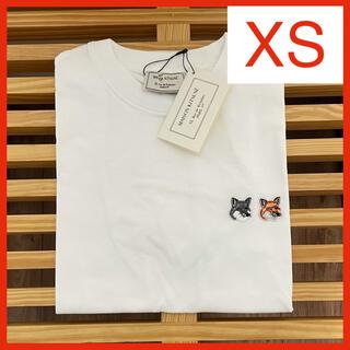MAISON KITSUNE' - 【新品】メゾンキツネ Tシャツ ホワイト XS MAISON KITSUNE