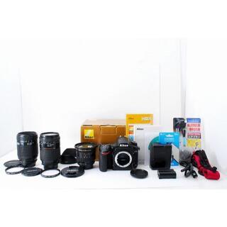 ニコン(Nikon)の1547【安心保証】Nikon D750 超広角19mm から望遠までレンズ3本(デジタル一眼)
