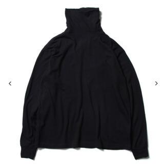 コモリ(COMOLI)のCOMOLI 19AW ウール天竺長袖タートルネック NAVY 2(Tシャツ/カットソー(七分/長袖))