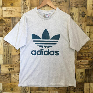 adidas - USA製 アディダス adidas Tシャツ 90s 80s 万国旗 デカロゴ