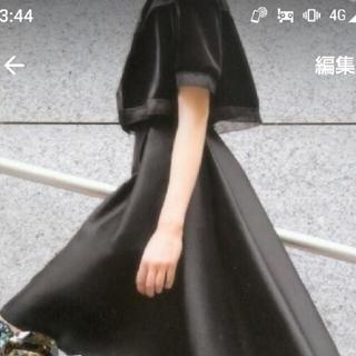 フォクシー(FOXEY)のFOXEY美品最高級シルクウールグレースガーラ38ピンクベージュ(ひざ丈スカート)