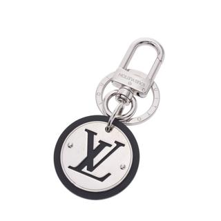 LOUIS VUITTON - ルイヴィトン  LVサークル キーホルダー 黒×シルバー金具