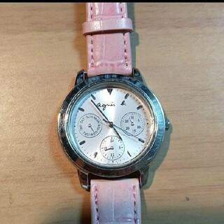 アニエスベー(agnes b.)の【月内特価】〜稼働品〜 agnes b.(アニエスベー) 腕時計 ピンク(腕時計)