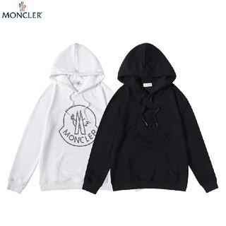 MONCLER - 2枚1000円引 MONCLER#HYZ072104  パーカー 黒白  秋