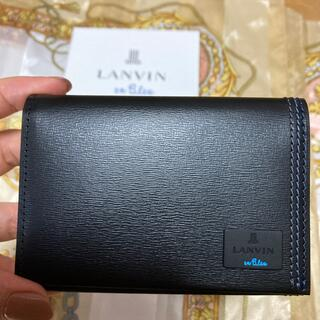 LANVIN en Bleu - 新品未使用 ランバンオンブルー カードケース 名刺入れ