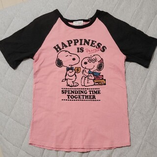 スヌーピー(SNOOPY)のスヌーピー Tシャツ ピンク ベル(Tシャツ(半袖/袖なし))