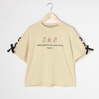 mezzo piano junior - メゾピアノ新品新作タグ付き【抗菌防臭】レースアップTシャツ160