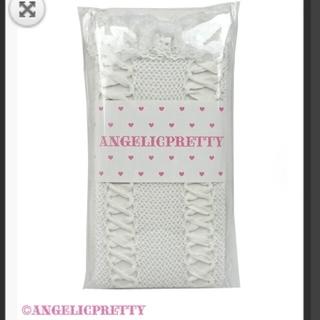 Angelic Pretty - プリティレースアップリボンオーバー二ー白