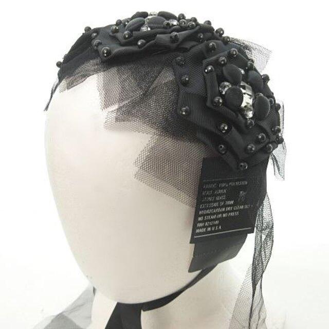 ANNA SUI(アナスイ)のアナスイ ANNA SUI 黒薔薇 ヘッドドレス ビジュー リボン 0912 レディースのファッション小物(その他)の商品写真