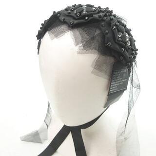 ANNA SUI - アナスイ ANNA SUI 黒薔薇 ヘッドドレス ビジュー リボン 0912