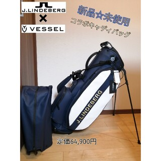 J.LINDEBERG - 新品☆未使用   ベゼル×Jリンドバーグ  コラボ キャディバッグ メンズ