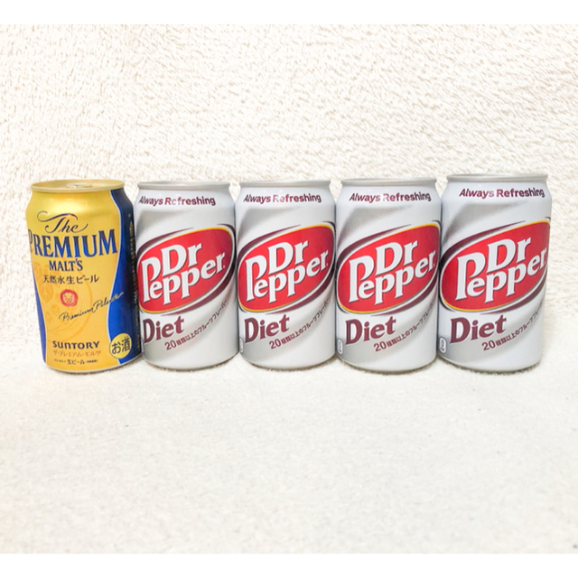 コカ・コーラ(コカコーラ)のドクターペッパー ダイエット プレミアムモルツ 炭酸飲料 糖質カロリーゼロ お酒 食品/飲料/酒の飲料(ソフトドリンク)の商品写真