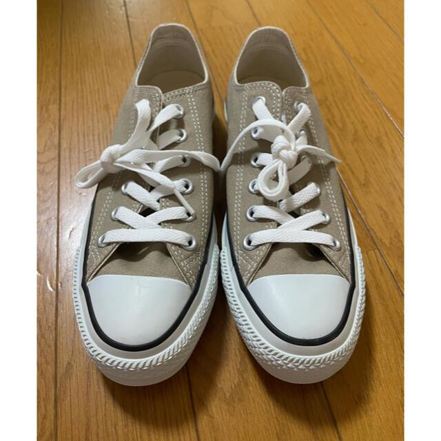 CONVERSE(コンバース)のコンバース ベージュ 24cm ⭐︎新品未使用 レディースの靴/シューズ(スニーカー)の商品写真
