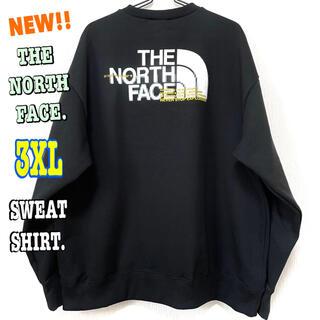 THE NORTH FACE - 新モデル ♪ 新品 ノースフェイス コーディネート スウェット 黒 3XL 4L