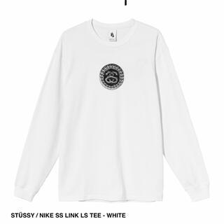 ステューシー(STUSSY)のSTUSSY NIKE コラボ ロンT 白 Lサイズ(Tシャツ/カットソー(七分/長袖))