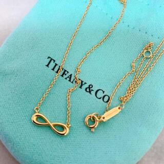 Tiffany & Co. - ティファニー インフィニティ ネックレス K18   イエローゴールド