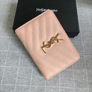 Yves Saint Laurent Beaute - 素敵★サンローラン 二つ折り財布 コインケース 名刺入れ ピンク