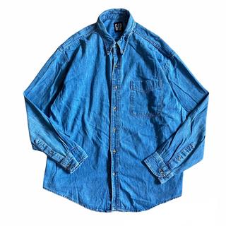 ギャップ(GAP)の90s GAP デニム シャツ USA製 古着 ビンテージ オールドギャップ(シャツ)