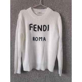 フェンディ(FENDI)のFendiフェンデイ セーター ホワイト レディース 美品(ニット/セーター)
