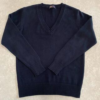 セシール(cecile)のCupop  Vネックニット 綿100%(ニット/セーター)