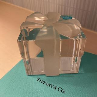 ティファニー(Tiffany & Co.)のティファニー ボウボックス ペーパーウェイト プレゼントボックス クリスタル(置物)