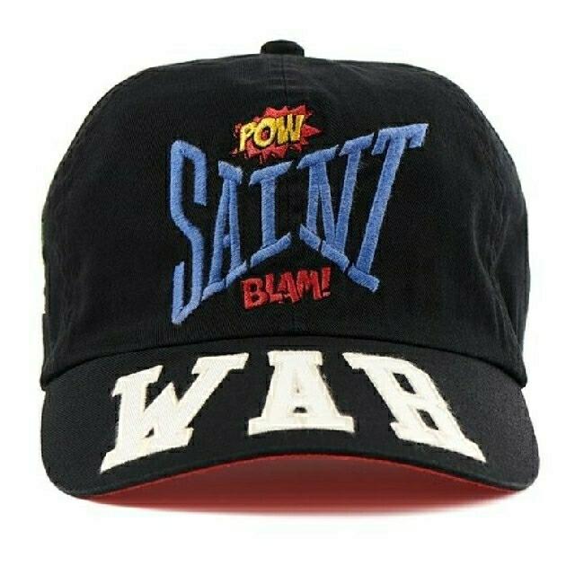 SAINT MICHAEL Mxxxxxx CAP WAR BLACK キャップ メンズの帽子(キャップ)の商品写真