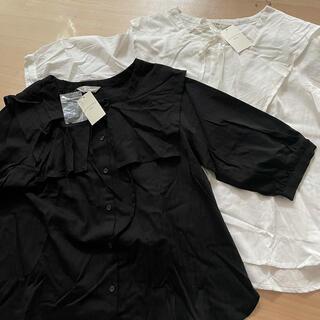 サマンサモスモス(SM2)のスクエア衿ブラウス  (シャツ/ブラウス(半袖/袖なし))