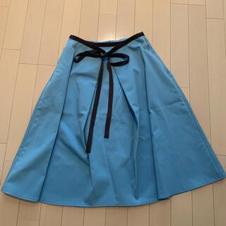 フォクシー(FOXEY)のフォクシーニューヨーク 水色スカート(ひざ丈スカート)