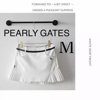 PEARLY GATES - パーリーゲイツ スカート レディース ホワイト 白 ゴルフ M