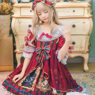 貴族お嬢様風 ゴスロリ フリル チュール Aライン 中世ヨーロッパ トランプ模様(衣装一式)