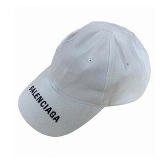 Balenciaga - BALENCIAGA バレンシアガ LOGO CAP キャップ 帽子 ホワイト