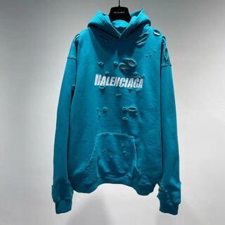 Balenciaga - バレンシアガ CAPS DESTROYED ロゴパーカー