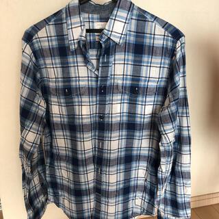 ギャップ(GAP)のGAP チェックシャツ 白水色(シャツ)
