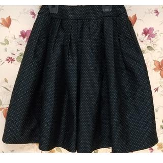 エムプルミエ(M-premier)のM-PREMIER エムプルミエ ドット ふんわりスカート 36(ひざ丈スカート)