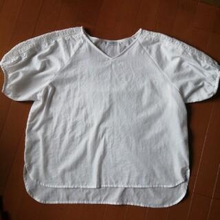 アフタヌーンティー(AfternoonTea)のアフタヌーンティー ホワイト 袖レース 汚れ傷みなし(カットソー(半袖/袖なし))