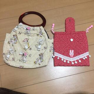 ハンドメイド  バッグと巾着袋(外出用品)