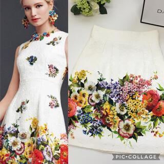DOLCE&GABBANA - 美品 ドルチェ&ガッバーナ DOLCE&GABBANA 花柄 スカート