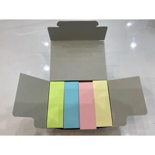 カラー付箋 20パッド×100枚(ノート/メモ帳/ふせん)