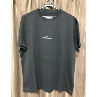 Maison Martin Margiela - メゾンマルジェラ 反転ロゴtシャツ ブラック 48