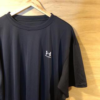 UNDER ARMOUR - UNDERARMOUR★吸汗速乾 Tシャツ 2XL 黒 ブラック クルーネック