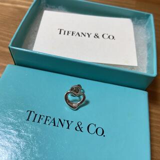 Tiffany & Co. - Tiffany オープンハート ピアス 片耳 シルバー