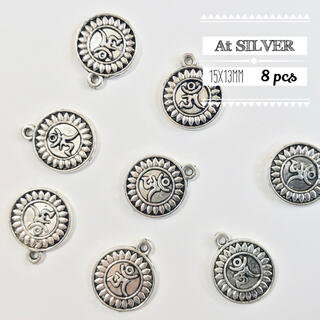 【571】金属チャーム・メダル(8個)(各種パーツ)