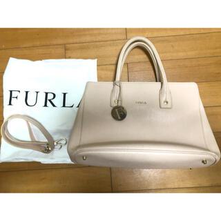 Furla - 【美品】フルラ トートバッグ リンダ 2way ピンク ショルダー レザー ロゴ