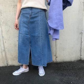 ミラオーウェン(Mila Owen)の前スリットデニムロングスカート(ロングスカート)