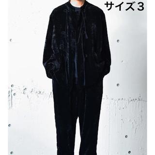 コモリ(COMOLI)のCOMOLI (コモリ) シルク別珍 スタンドカラージャケット サイズ3(その他)