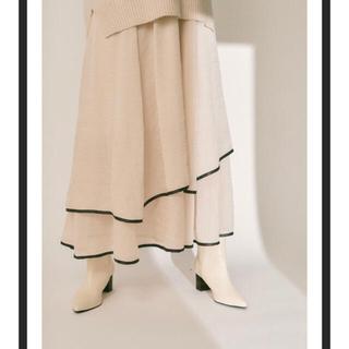 Lily Brown - 裾パイピングシフォンスカート リリーブラウン 24時間以内発送 新品未使用