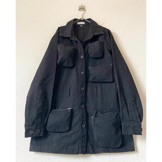 STONE ISLAND - 00s パキスタン製 ポケットデザイン ブラック 変形テクノステンカラーコート