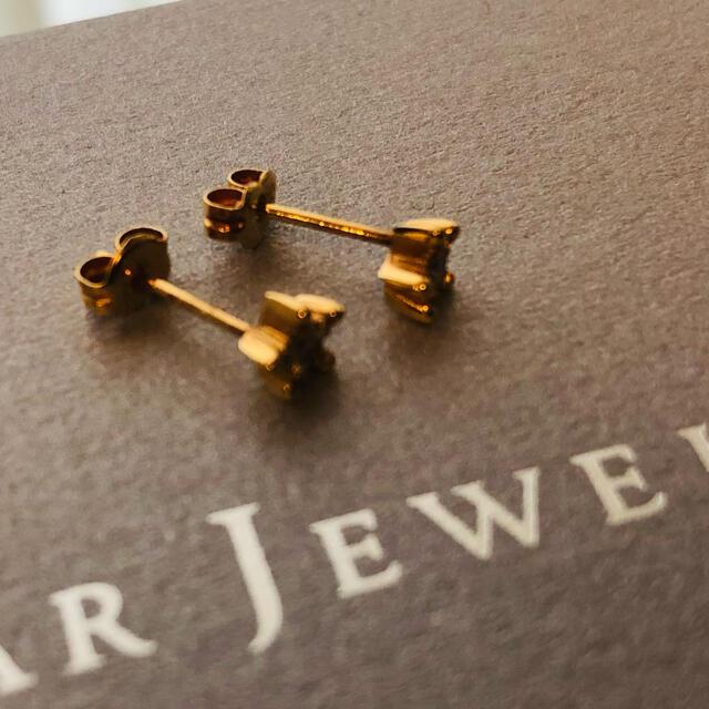 STAR JEWELRY(スタージュエリー)のスタージュエリー スターリー ピアス ダイヤ 18KYG レディースのアクセサリー(ピアス)の商品写真
