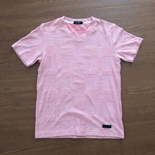 ブラックレーベルクレストブリッジ(BLACK LABEL CRESTBRIDGE)のブラックレーベル ピンクTシャツ サイズM 試着のみ(Tシャツ/カットソー(半袖/袖なし))